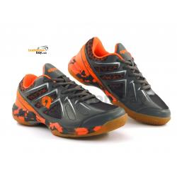 Apacs Cushion Power SP-609-YS Grey Orange Badminton Shoes With Improved Cushioning