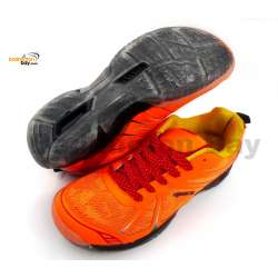 Apacs Cushion Power 068 Orange Badminton Shoes With Transparent Outsole and Improved Cushioning