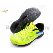 Apacs Cushion Power 070 Neon Green Badminton Shoes With Transparent Outsole and Improved Cushioning