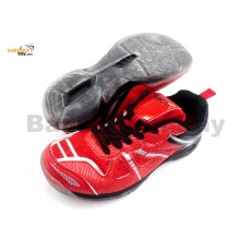 Apacs Cushion Power 070 Red Badminton Shoes With Transparent Outsole and Improved Cushioning