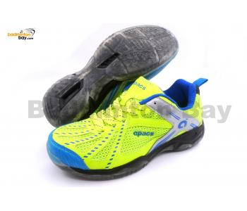 Apacs Cushion Power 071 Neon Green Badminton Shoes With Transparent Outsole and Improved Cushioning