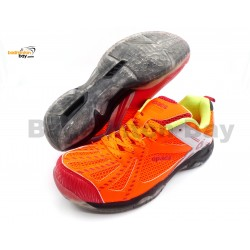 Apacs Cushion Power 071 Orange Badminton Shoes With Transparent Outsole and Improved Cushioning