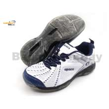 Apacs Cushion Power 071 White Badminton Shoes With Transparent Outsole and Improved Cushioning