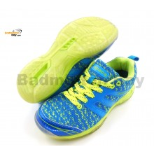Apacs Cushion Power 072 Blue Badminton Shoes With Transparent Outsole and Improved Cushioning