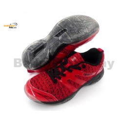 Apacs Cushion Power 072 Red Badminton Shoes With Transparent Outsole and Improved Cushioning