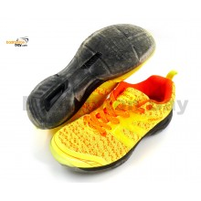 Apacs Cushion Power 072 Yellow Badminton Shoes With Transparent Outsole and Improved Cushioning