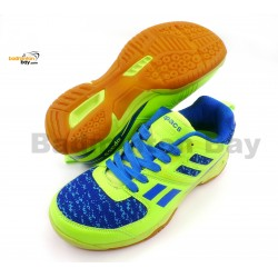 Apacs Cushion Power 073 Neon Green/Blue Badminton Shoes With Improved Cushioning