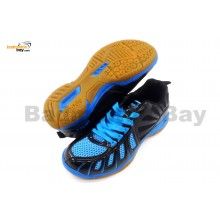 Apacs Cushion Power 075 Blue Black Badminton Shoes With Improved Cushioning