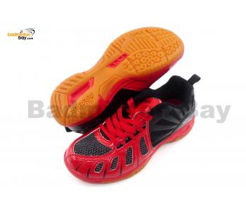 Apacs Cushion Power 075 Red Black Badminton Shoes With Improved Cushioning