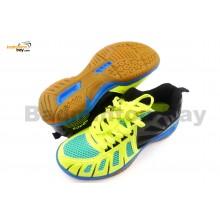 Apacs Cushion Power 075 Yellow Black Badminton Shoes With Improved Cushioning