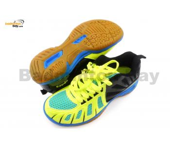 Apacs Cushion Power 075 Yellow Black Badminton Shoes With Improved Cushioning