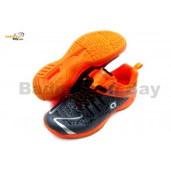 Apacs Cushion Power 076 Grey Orange Badminton Shoes With Improved Cushioning