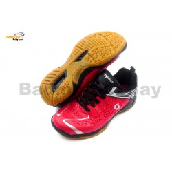Apacs Cushion Power 076 Red Badminton Shoes With Improved Cushioning