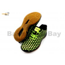 Apacs Cushion Power 078 Black Neon Green Badminton Shoes With Improved Cushioning