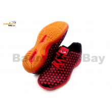 Apacs Cushion Power 078 Black Red Badminton Shoes With Improved Cushioning