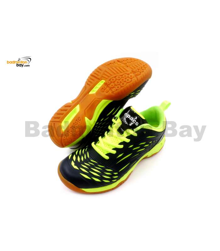 Apacs Cushion Power 079 Apple Green Black Badminton Shoes With Improved Cushioning