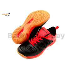 Apacs Cushion Power 080 Black Red Badminton Shoes With Improved Cushioning