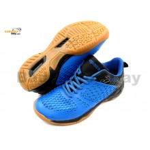 Apacs Cushion Power 080 Blue Black Badminton Shoes With Improved Cushioning
