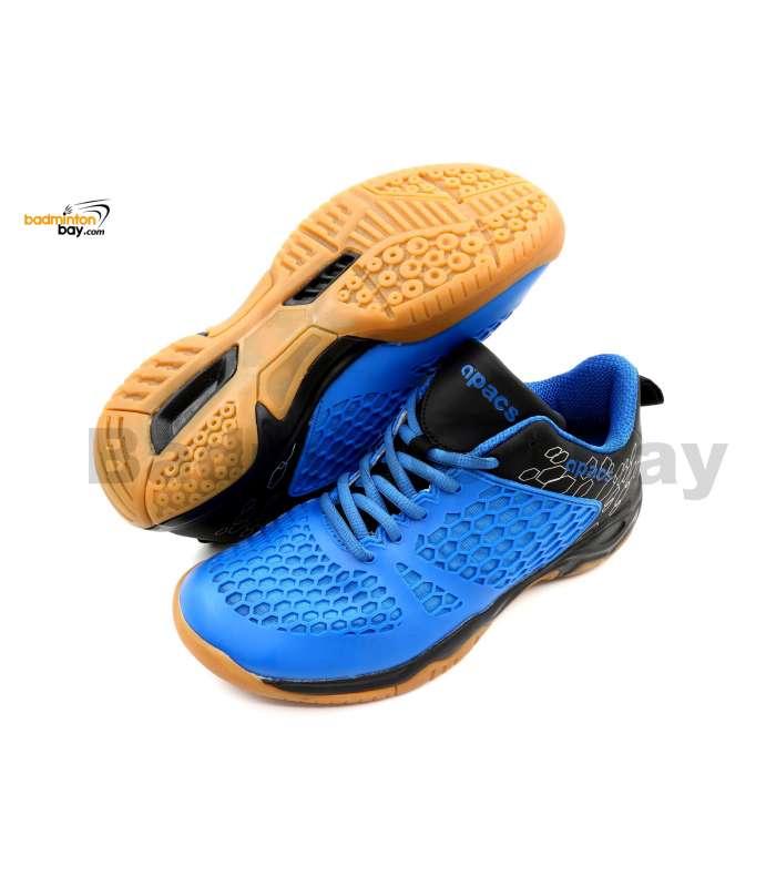 Apacs Cushion Power 080 Blue Black Badminton Shoes With Improved Cushioning