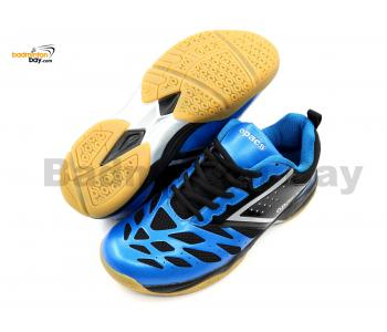 Apacs Cushion Power 081 Blue Black Badminton Shoes With Improved Cushioning