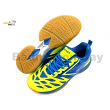 Apacs Cushion Power 081 Neon Green Blue Badminton Shoes With Improved Cushioning