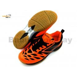 Apacs Cushion Power 081 Orange Black Badminton Shoes With Improved Cushioning
