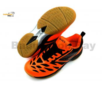 Apacs Cushion Power 081 Orange Black Badminton Shoes With Improved Cushioning