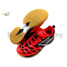 Apacs Cushion Power 081 Red Black Badminton Shoes With Improved Cushioning