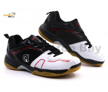 Apacs Cushion Power 082 Black White Badminton Shoes With Improved Cushioning & Technology