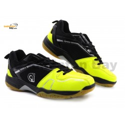 Apacs Cushion Power 082 Black Yellow Badminton Shoes With Improved Cushioning & Technology