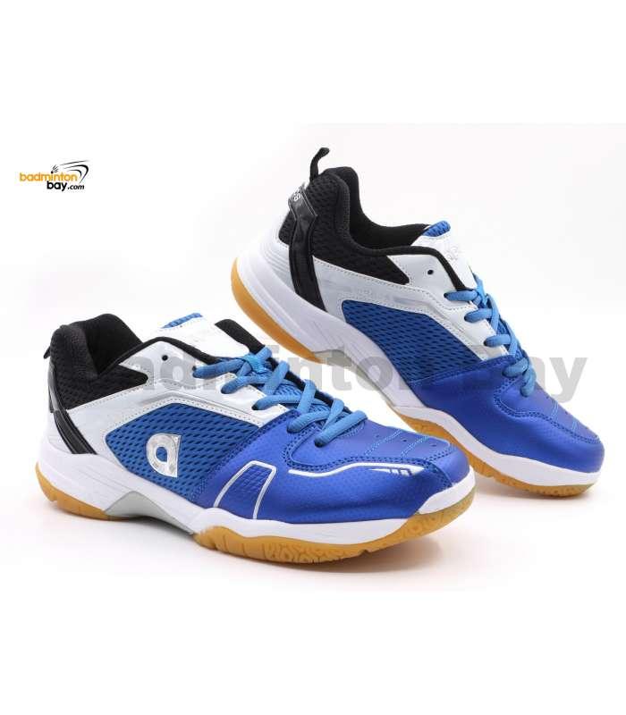 Apacs Cushion Power 082 Blue White Badminton Shoes With Improved Cushioning & Technology