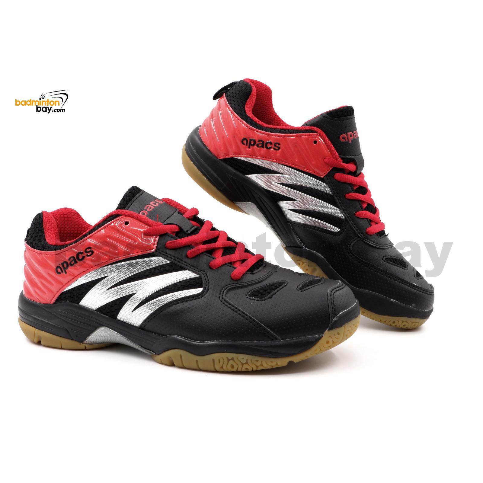 Apacs Cushion Power Sp 601 Black Red Badminton Shoes Sporting Goods Footwear