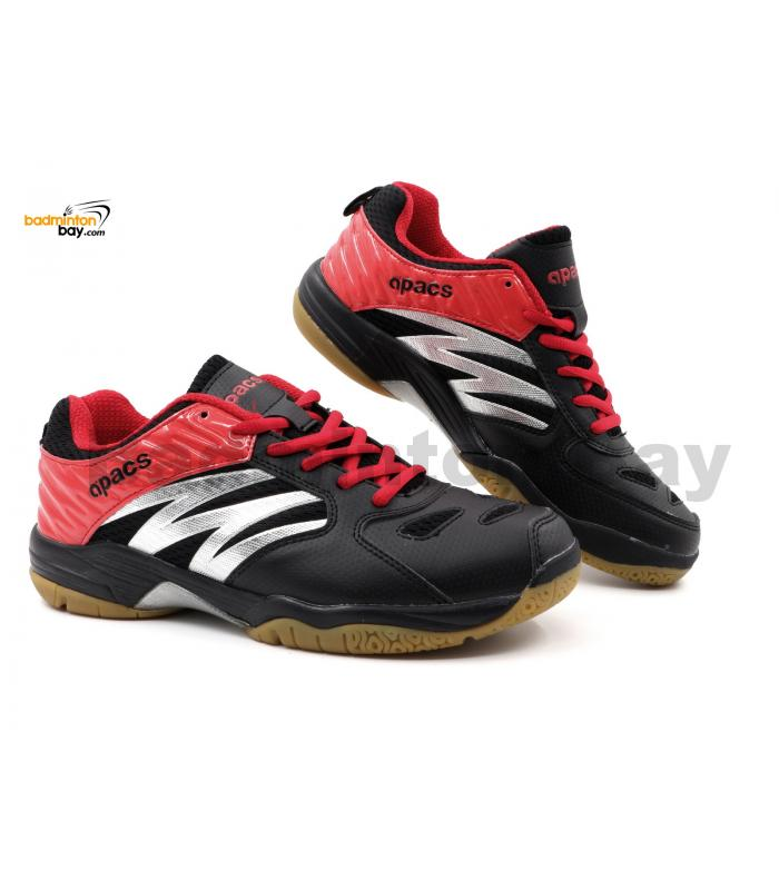 Apacs Cushion Power SP-601 Black Red Badminton Shoes With Improved Cushioning & Technology