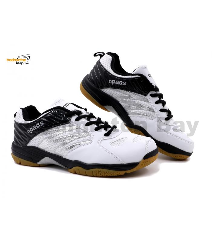 Apacs Cushion Power SP-601 White Black Badminton Shoes With Improved Cushioning & Technology