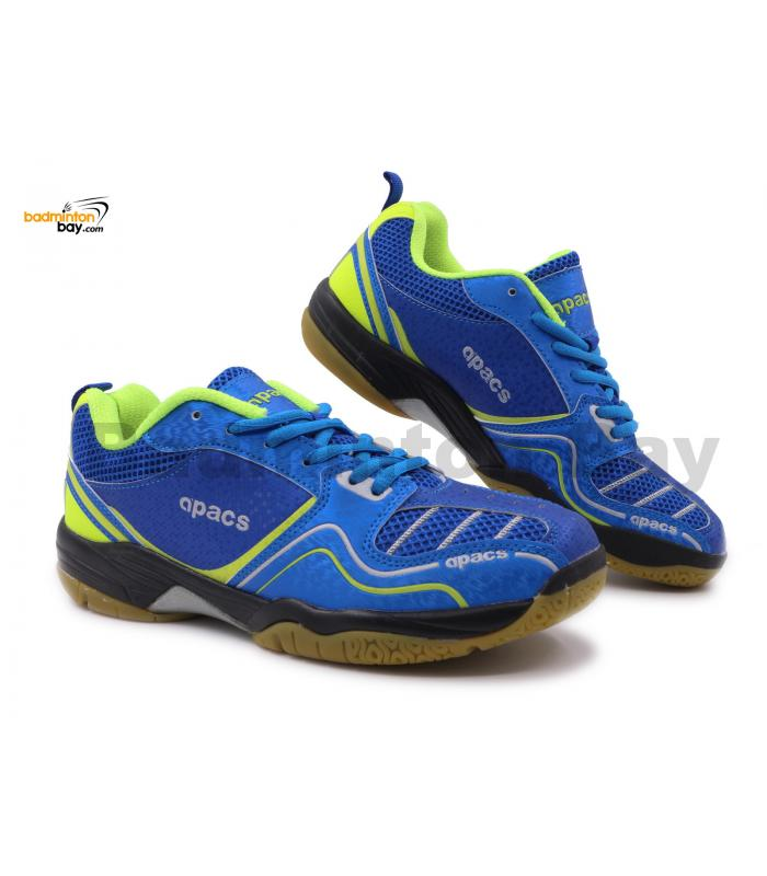 Apacs Cushion Power SP-603 Blue Neon Green Badminton Shoes With Improved Cushioning & Technology