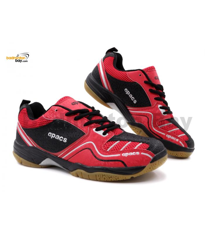 Apacs Cushion Power SP-603 Red Black Badminton Shoes With Improved Cushioning & Technology