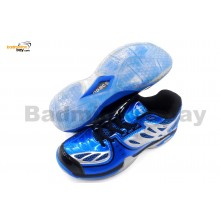 Apacs Cushion Power Pro ZZ 100 Blue Badminton Shoes With Transparent Outsole and Improved Cushioning