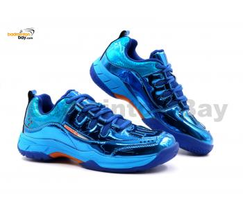 Limited Edition Apacs Cushion Power SP-600 Chrome Blue Badminton Shoes With Improved Cushioning