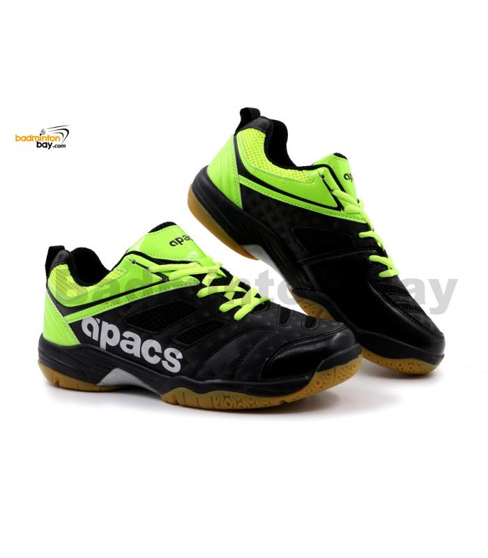 Apacs Cushion Power SP-606 Black Neon Green Badminton Shoes With Improved Cushioning & Technology