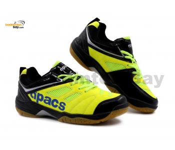 Apacs Cushion Power SP-606 Neon Green Black Badminton Shoes With Improved Cushioning & Technology