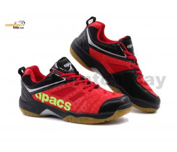 Apacs Cushion Power SP-606 Red Black Badminton Shoes With Improved Cushioning & Technology