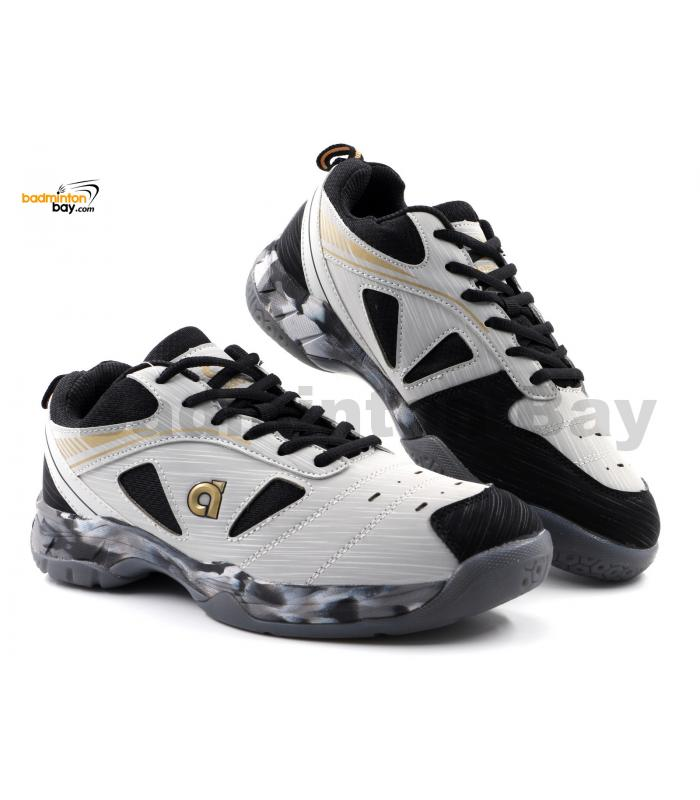 Apacs Cushion Power SP-608F II Grey Black Gold Badminton Shoes With Improved Cushioning