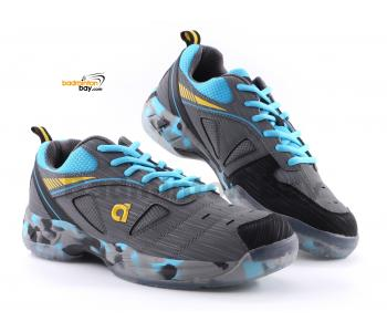 Apacs Cushion Power SP-608F III Grey Blue Badminton Shoes With Improved Cushioning