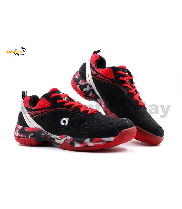 Apacs Cushion Power SP-608F Black Red Badminton Shoes With Improved Cushioning