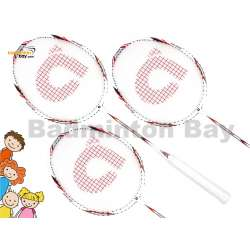 Junior Bundle : 3 pieces Apacs Speed Concept 635 ( Shorter With Full Graphite ) Badminton Racket + 3 pieces PU Overgrips