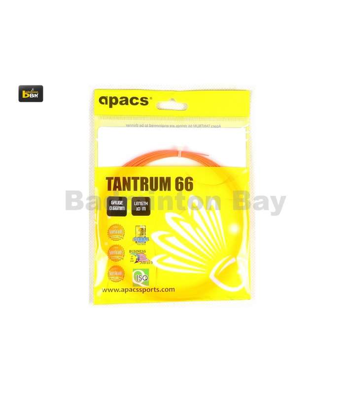 ~ Out of stock  Apacs Tantrum 66 (0.66mm) Badminton String