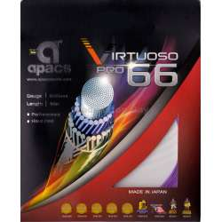 ~Out of stock Apacs Virtuoso Pro 66 (0.66mm) Badminton String Made in Japan - Hard Feel
