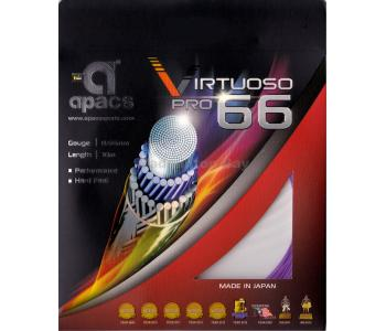 Apacs Virtuoso Pro 66 (0.66mm) Badminton String Made in Japan - Hard Feel