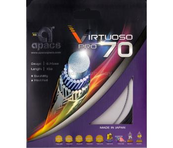 Apacs Virtuoso Pro 70 (0.70mm) Badminton String Made in Japan - Hard Feel