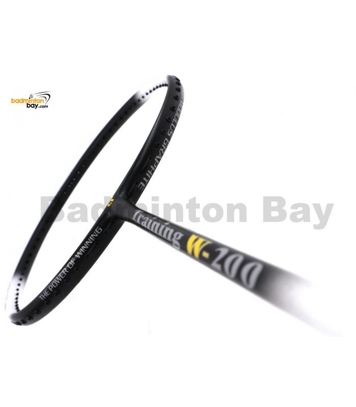 Apacs Training W-200 Black White Badminton Racket (200g)